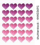 many hearts made of flowers | Shutterstock . vector #44403691
