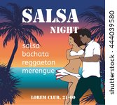 Salsa Night Flyer With Couple...