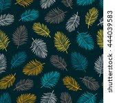 tropical trendy seamless... | Shutterstock .eps vector #444039583