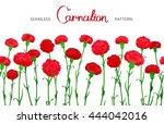 seamless horizontal border of... | Shutterstock .eps vector #444042016