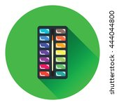 watercolor paint box icon. flat ...
