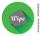 wipe cloth icon. flat color...
