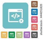 flat web development icons on... | Shutterstock .eps vector #444051820