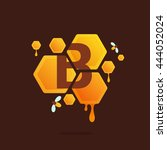 Letter B Logo In Honeycomb Wit...