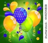 balloons. rio de janeiro... | Shutterstock .eps vector #444054808