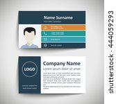 modern simple business card set ... | Shutterstock .eps vector #444059293