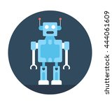 humanoid robot vector icon | Shutterstock .eps vector #444061609