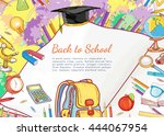 back to school education open... | Shutterstock .eps vector #444067954