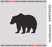 bear icon. | Shutterstock .eps vector #444076420