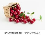 Small photo of Basket of fresh sour cherries