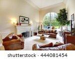 luxury high ceiling living room ... | Shutterstock . vector #444081454