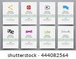 corporate identity vector... | Shutterstock .eps vector #444082564