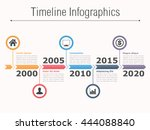timeline infographics design... | Shutterstock .eps vector #444088840