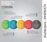 5 steps infographic design... | Shutterstock .eps vector #444096574