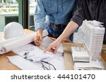image of engineer meeting for... | Shutterstock . vector #444101470