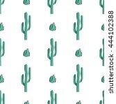 cactus seamless pattern.... | Shutterstock .eps vector #444102388