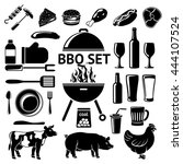 vector set for bbq party. grill ... | Shutterstock .eps vector #444107524