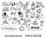 space themed doodle | Shutterstock .eps vector #444110638