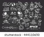 space themed doodle | Shutterstock .eps vector #444110650