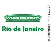 football stadium. rio de janeiro | Shutterstock .eps vector #444111724