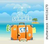 summer seaside vacation... | Shutterstock .eps vector #444116170