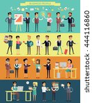big set business people... | Shutterstock .eps vector #444116860