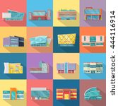 set houses  buildings  and... | Shutterstock .eps vector #444116914