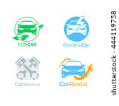 vehicle logo icons for motor... | Shutterstock .eps vector #444119758