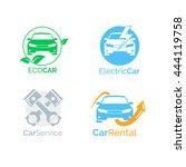 vehicle logo icons for motor... | Shutterstock .eps vector #444119758