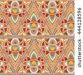watercolor all seeing eye... | Shutterstock . vector #444128596