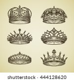 hand drawn vintage imperial... | Shutterstock .eps vector #444128620