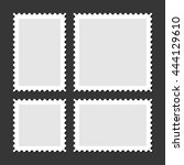 blank postage stamps set on... | Shutterstock .eps vector #444129610