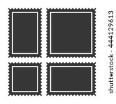 blank postage stamps set on... | Shutterstock .eps vector #444129613