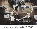 business team working meeting... | Shutterstock . vector #444132580