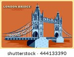 Vintage Poster Of London Bridg...