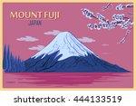 Vintage Poster Of Mount Fuji In ...