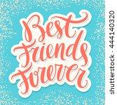 best friends forever. | Shutterstock .eps vector #444140320