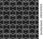 seamless geometric pattern of... | Shutterstock .eps vector #444143524