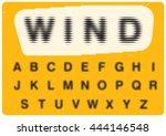 linear typography  ... | Shutterstock .eps vector #444146548