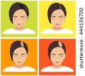 hair loss stages vector set on... | Shutterstock .eps vector #444156700