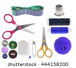 Set Of Sewing Items Isolated O...