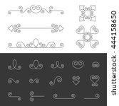 vector set of symmetry ornate... | Shutterstock .eps vector #444158650