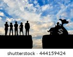 inequality and social class.... | Shutterstock . vector #444159424