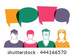four people. men and women... | Shutterstock .eps vector #444166570
