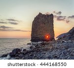 Beautiful Seascape With A Rock...