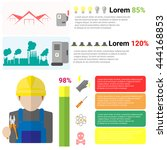 electricity infographics set... | Shutterstock .eps vector #444168853