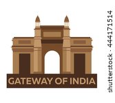 gateway of india. mumbai.... | Shutterstock .eps vector #444171514