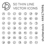50 vector thin line icons for... | Shutterstock .eps vector #444174496
