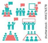 speech  accost icon set | Shutterstock .eps vector #444176578