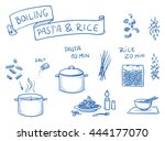 set of different icons for... | Shutterstock .eps vector #444177070
